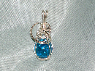 Blue raven creations wire wrapped cracked marble pendant for How to make marble jewelry