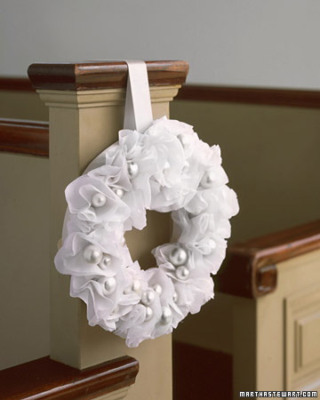 Paper Pew Wreath brought to you by Martha Stewart Weddings
