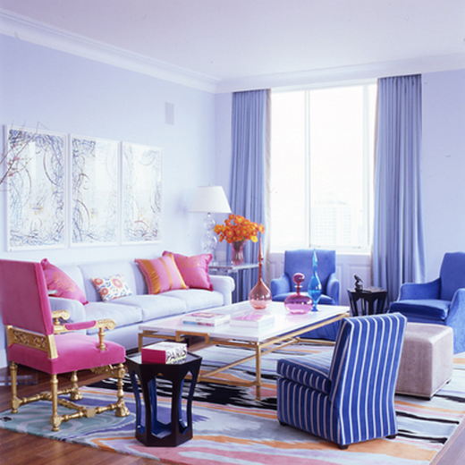 Colorful Living Room, Home Interior Designs