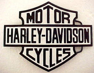 Black and White Harley Davidson Logo