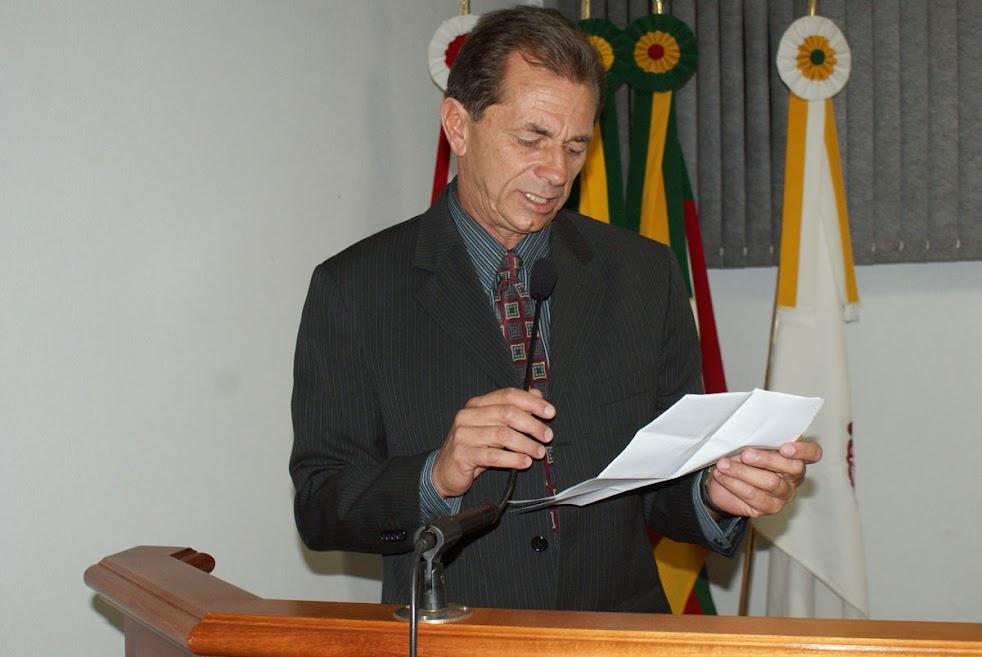 Ver.Luiz Fernando Cereser - proponente da homenagem