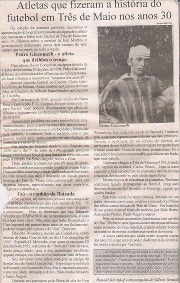 Atleta Pedro Giacomelli