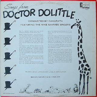 A Disneyland Record Songs From Doctor Dolittle front cover