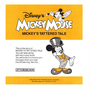 Mickey Mouse - Mickey's Tattered Tale Read-Along Book and Tape