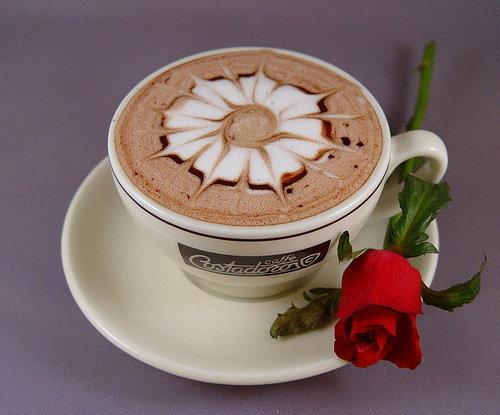 فنجان قهوة مـــطـــر