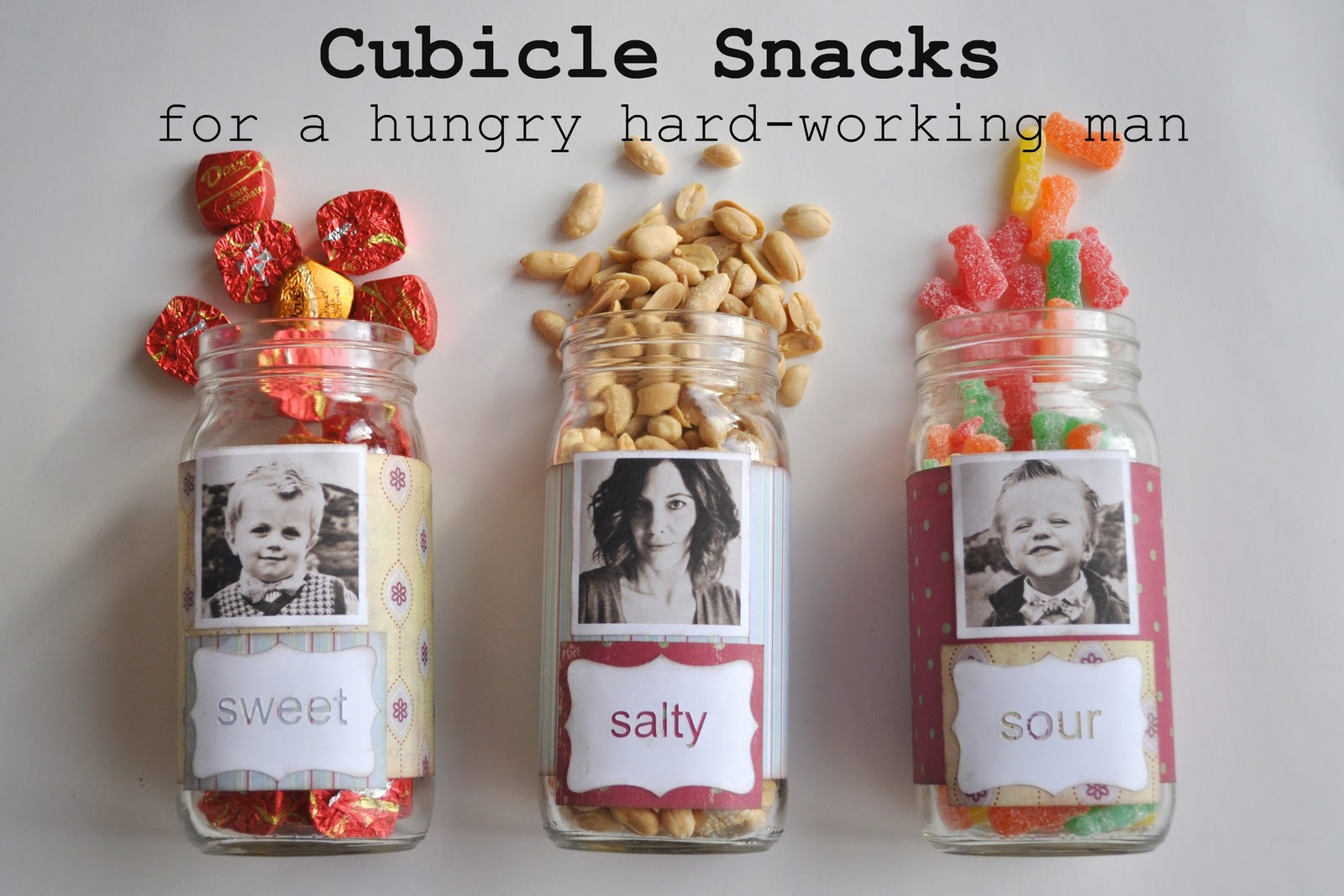 Diy cubicle snacks for your man for Easy gifts for men