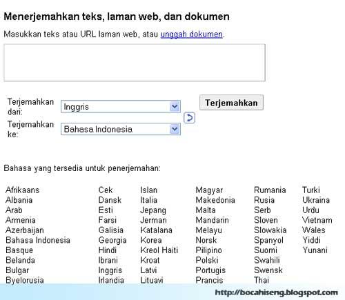 Google terjemahan - Google trans ate