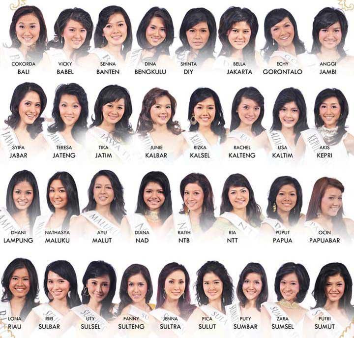 para peserta finalis miss indonesia 2010