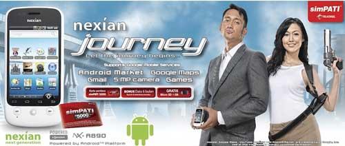 Nexian NX A890 Journey - Spesifikasi Harga Nexian NX A890 Journey
