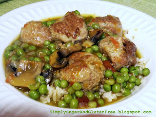 Meatballs with Fresh Veggie Sauce and Peas