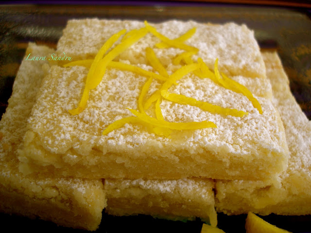 Those lemony bars are great served whit fresh fruit salad, or with a ...