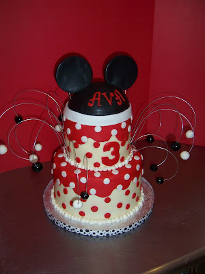 Cake Toppers  Birthdays on Cup A Dee Cakes Blog  Minnie Mouse 2 Tier Cake