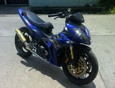 Yamaha Jupiter MX 135 Blue Racing Style Modification