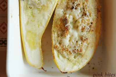 Roasted Garlic and Goat Cheese Stuffed Squash
