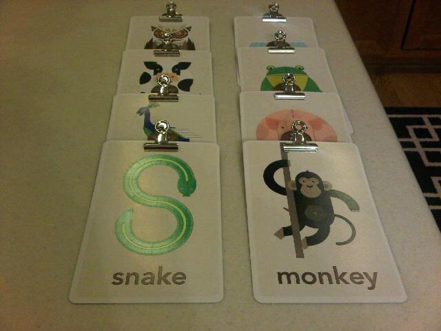DIY: Hanging Flashcards