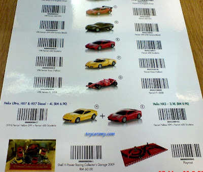 Shell Ferrari Models Returned Toy Cars Collector