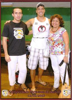 Iuri, meu filho no Campeonato Paraense de Karatê, em 2009
