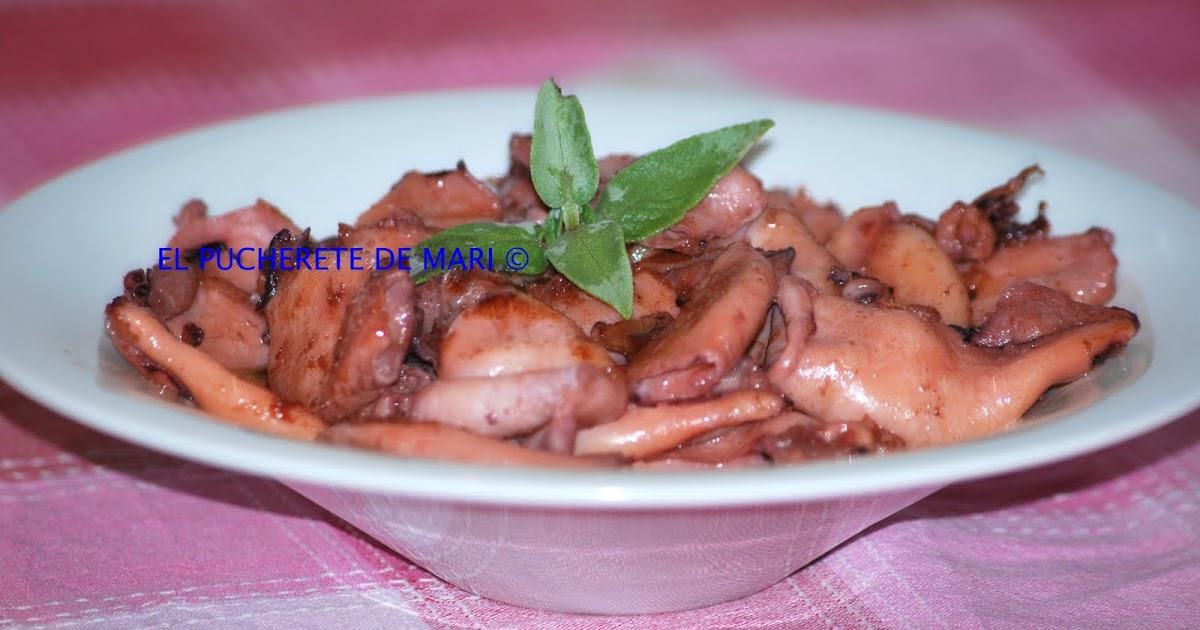 El pucherete de mari calamares en salsa teriyaky - Limpiar calamares pequenos ...