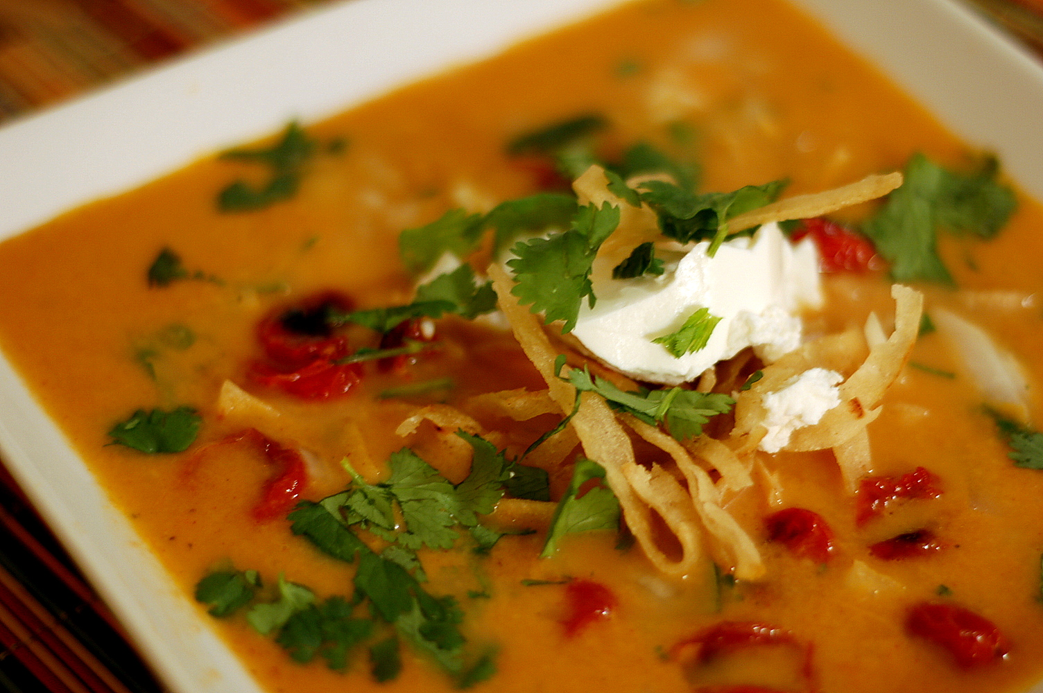 The Grains of Paradise: Vegetarian Tortilla Soup