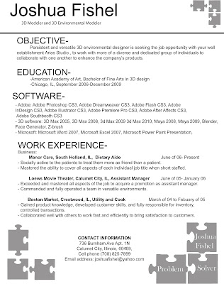 keating resume editor 3d artist vfx artist images