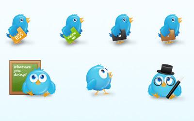אייקונים להורדה של טוויטר