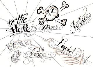 yazı dövme modelleri