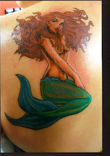 deniz kızı dövmesi modelleri