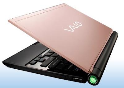 Sony VAIO TZ laptop pink