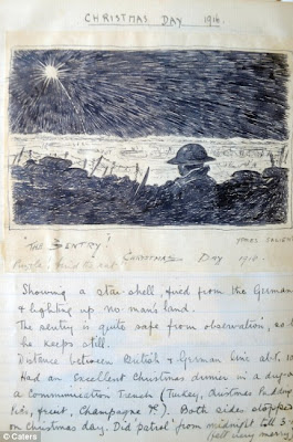Christmas 1916: a British 'Tommy' staring out over the trenches
