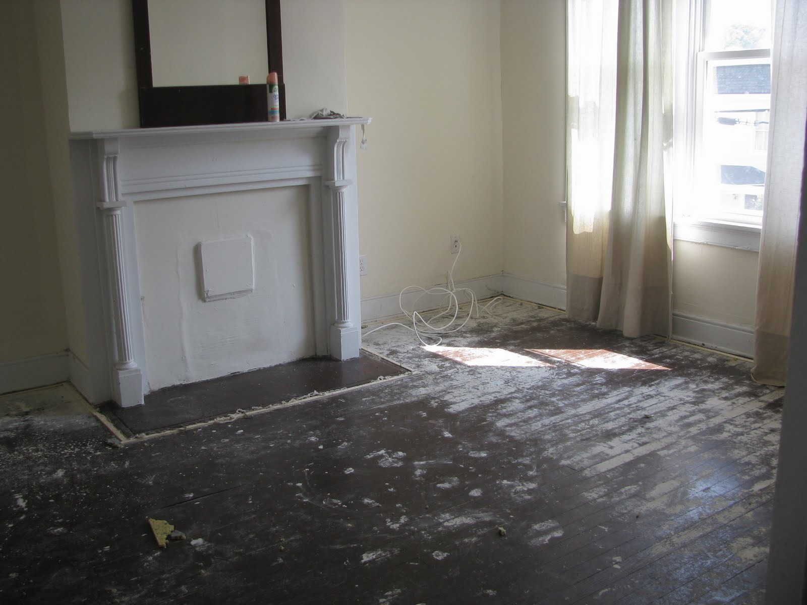 Painted Floors Remodelaholic  Refinished Wood Floors Previously Under Carpet