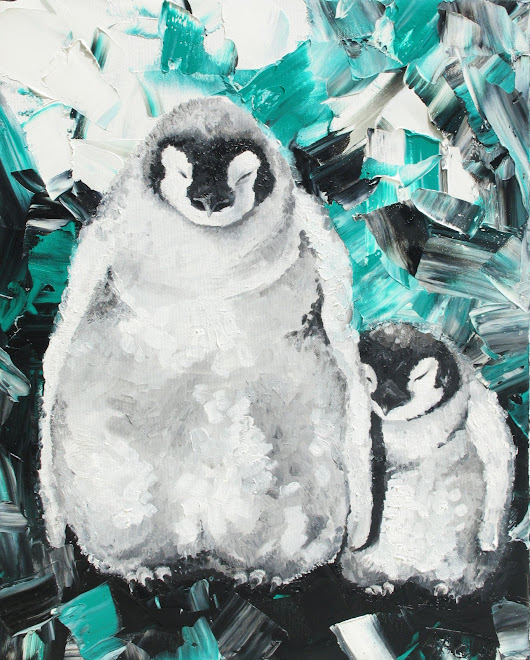 Penguins 50 x 40 cm