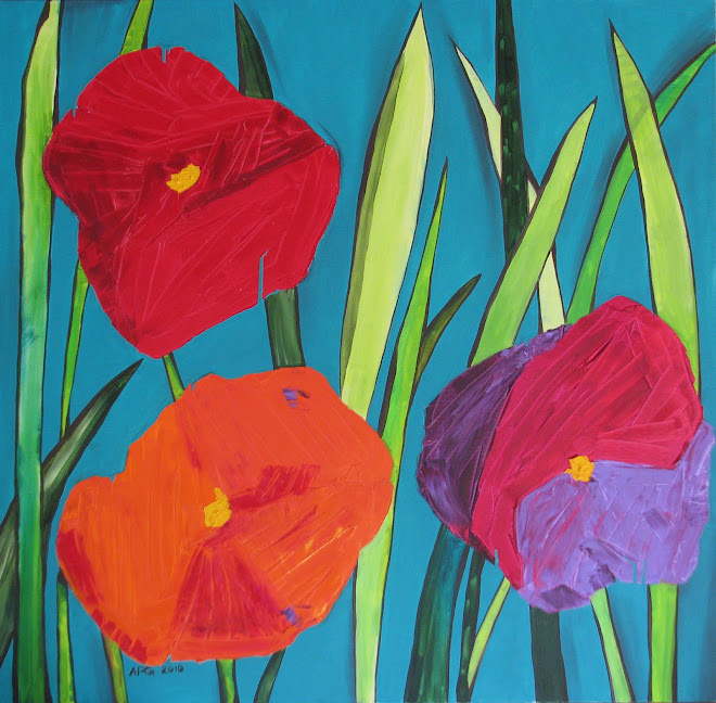 flowers 100 x 100 cm