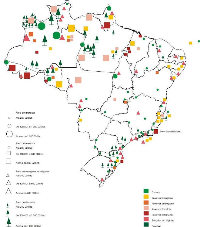 Unidades de Conservação - mapa Brasil