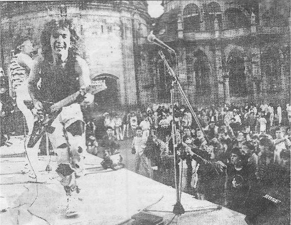 Épsilon. 1º de Mayo de 1987. Plaza de Santa María (Lugo):