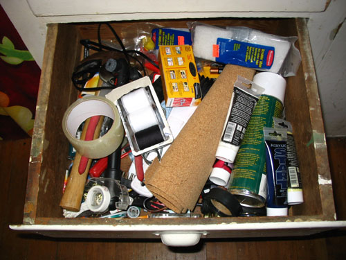 junk drawer Everyone has one well, i assume everyone has one a junk drawer where the miscellaneous and random items in one's home ends up ours has always been a hot mess, like an episode of hoarders hot mess– minus the dead cats and decades-old newspapers so i decided to tackle it this.