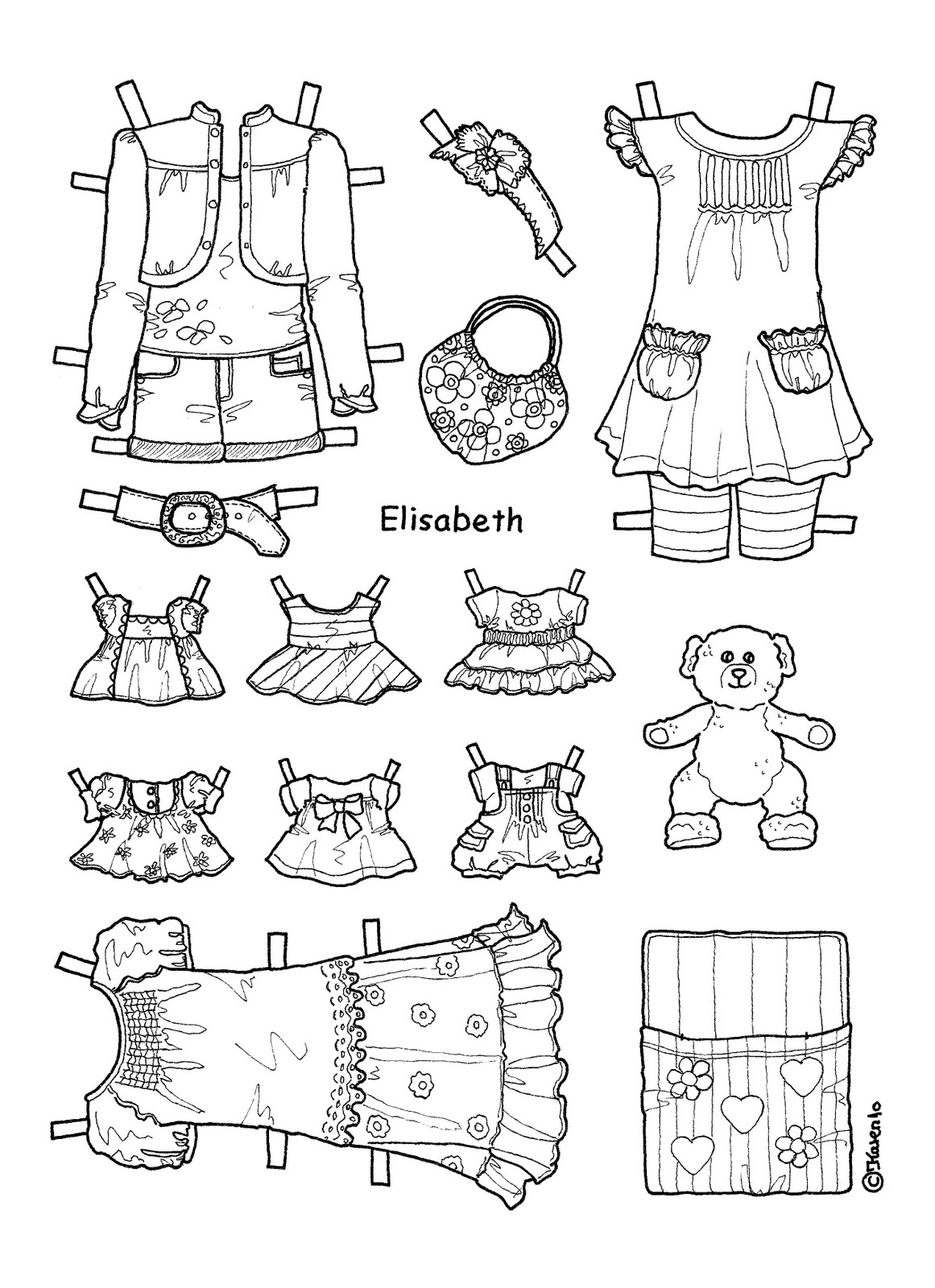 elisabeth paperdoll Colouring Pages