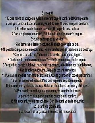 Salmo 91 En Espanol     Luna Rosadecristal Blogspot