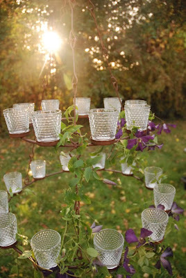 Garden lighting tealight chandeliers decorate the garden for a tealight chandeliers decorate the garden for a perfect garden party mozeypictures Gallery