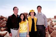 Sara with Alan, Bob and Nicole in Israel