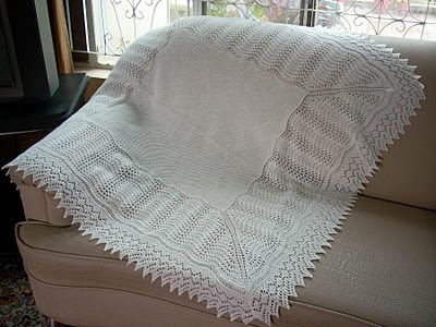 PRAYER SHAWL BABY BLANKET PATTERN | Free Baby Knitting Patterns