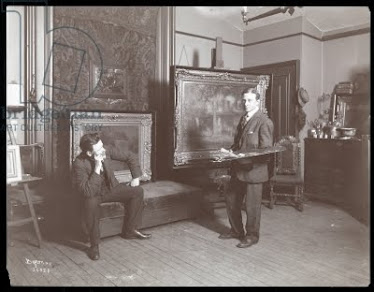 Walter Granville-Smith in his studio, New York, 1907 (silver gelatin print), Byron Company