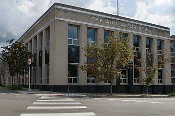 Das Gebäude der Ann Arbor News von 1936, ein Entwurf von Albert Kahn, soll verkauft werden © Cornelia Schaible