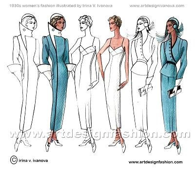 art deco fashion images. Art Deco and second World