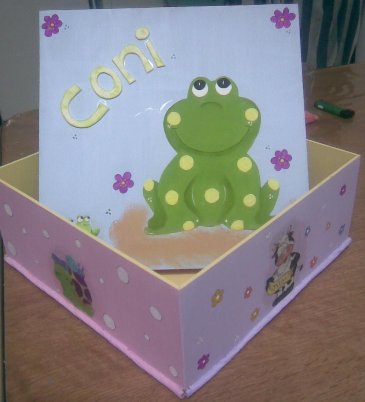 Pinceladitas cajas decoradas 27x27x10 - Cajas infantiles decoradas ...