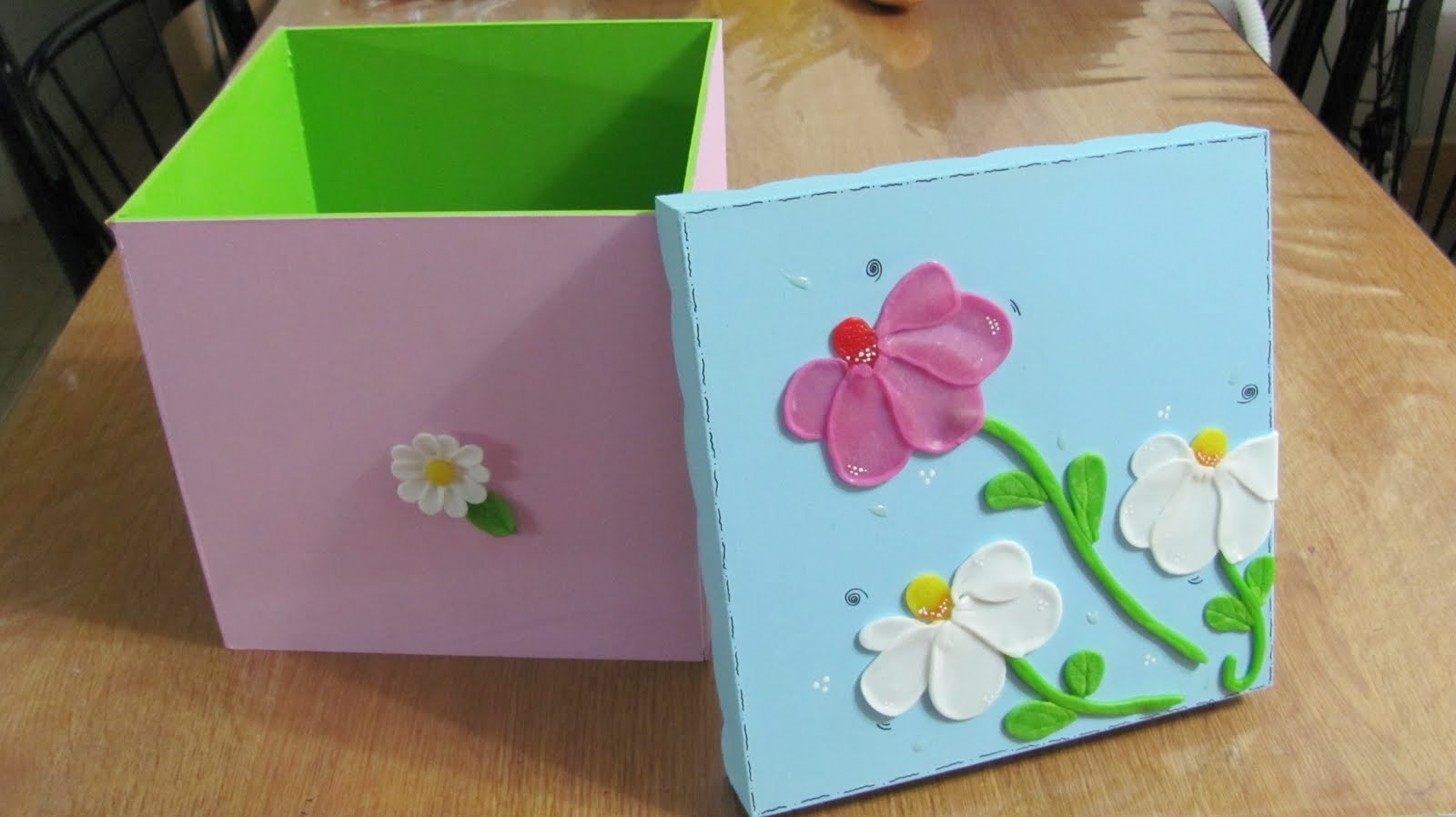 Pinceladitas cajas decoradas 20x20x20 - Cajas carton decoradas ...