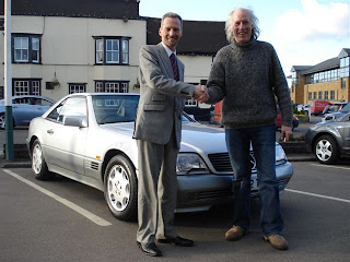 Terry Nutkins buys a Mercedes SL500 Convertible