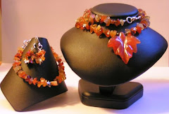 Fall leaf jewelry set