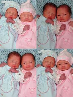 Seth and Sienna boy/girl twins following their birth