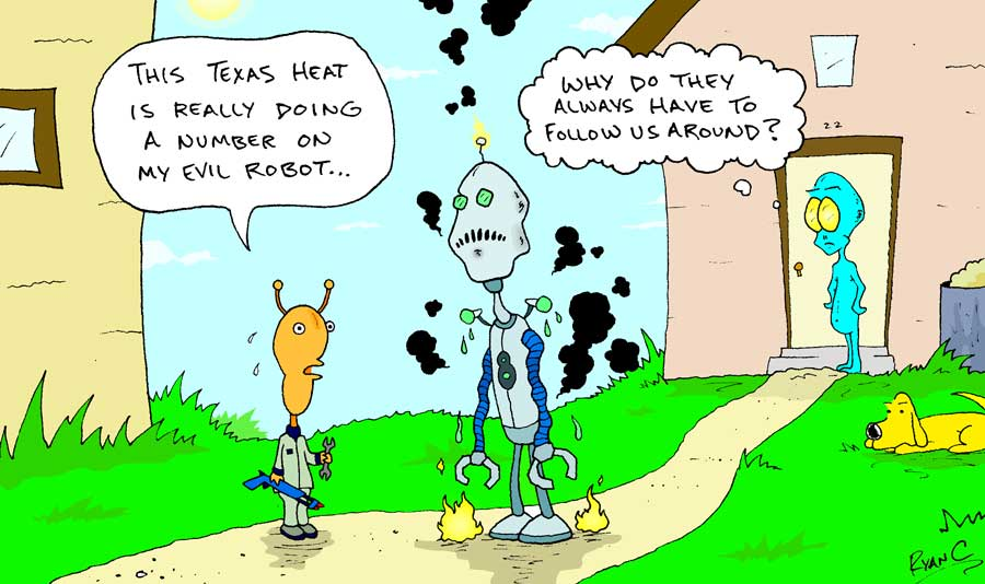 Dog Cartoons About Hot Weather