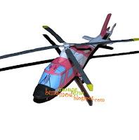 Бумажная модель вертолета
